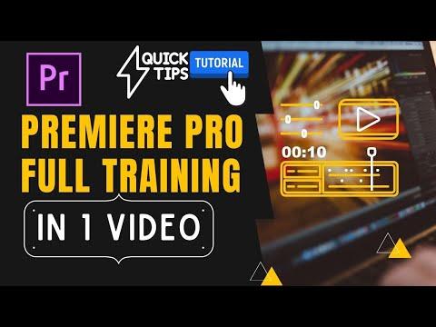 Premiere Pro Advance Training Class in 1 Video | Free Video ...