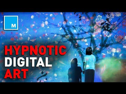Watch This HYPNOTIC Digital Art Exhibit | [FUTURE BLINK]