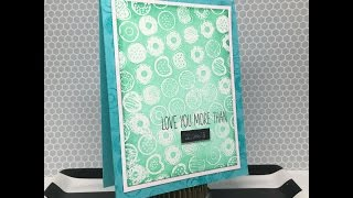 Iron Off Embossing - Donut Card