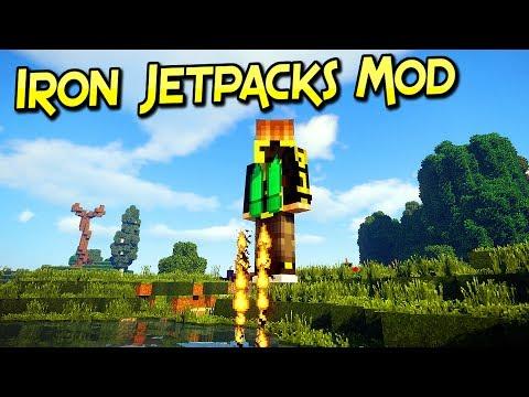 Iron Jetpacks Mod   Mochilas Cohete Para Todos Los Gustos   Minecraft 1.12.2   Review Español