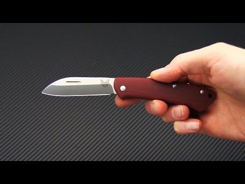 Benchmade Knives 319-1 Proper Red G10 Slip Joint Folder