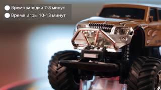 """Машинка на радиоуправлении Джип 1:58 Great Wall Toys 2207 (красный, 49MHz) от компании Интернет-магазин """"Domino"""" - видео"""
