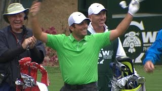 Francesco Molinari's hole-in-one on No. 16 at Waste Management