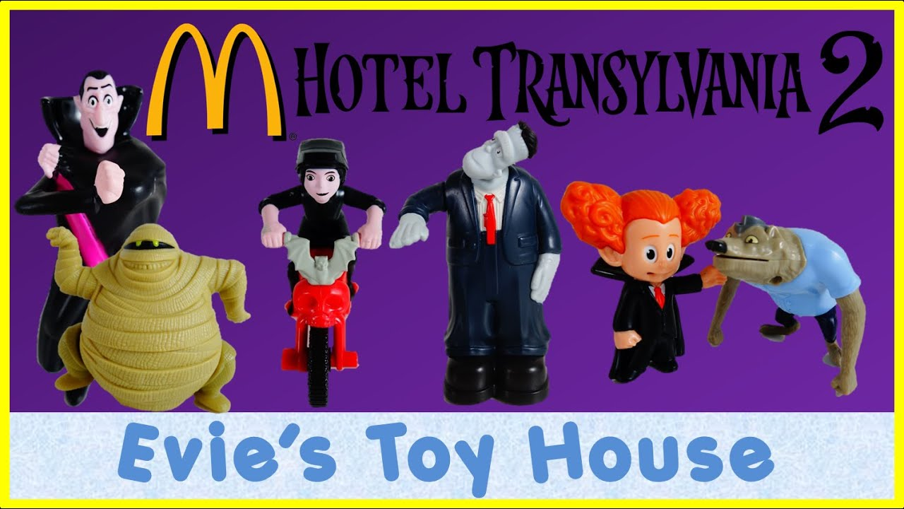 2015 McDonald's Happy Meal - HOTEL TRANSYLVANIA 2 MOVIE COMPLETE SET REVIEW | Evies Toy House