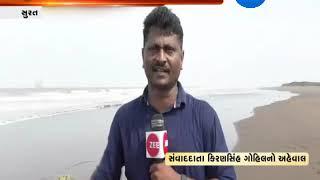 Surat: Fishermen Fishing Despite of Cyclone