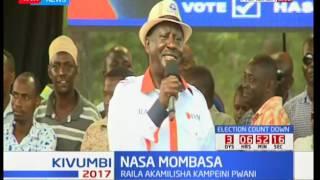 Raila Odinga akamilisha kampeini za NASA pwani