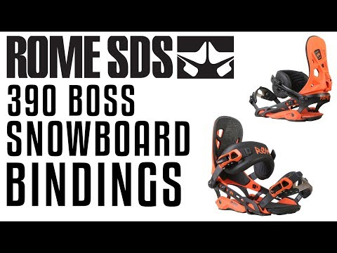2018 Rome 390 Boss Snowboard Bindings – Review – The-House.com