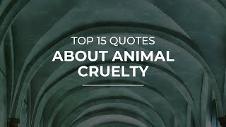 Top 15 Quotes about Animal Cruelty | Quotes for Whatsapp | Good Quotes