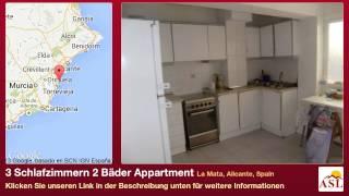 preview picture of video '3 Schlafzimmern 2 Bäder Appartment zu verkaufen in La Mata, Alicante, Spain'