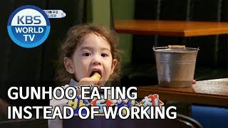 Gunhoo eating instead of working [The Return of Superman/2019.10.13]