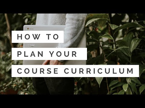 How to Create a Curriculum for Your Online Course