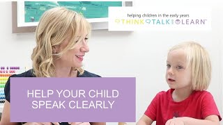 HELP YOUR CHILD SPEAK CLEARLY