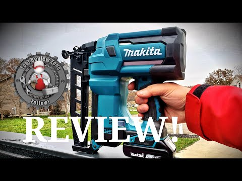 Makita 18-Volt LXT 16-Gauge Cordless 2-1/2 in. Straight Finish Nailer REVIEW! (XNB02Z)   #makita