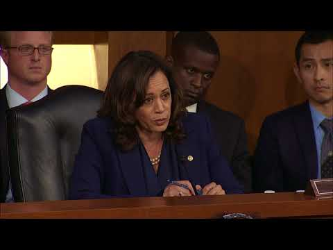 US Senator Kamala Harris on Wednesday questioned Supreme Court nominee Brett Kavanaugh about whether he had spoken with a particular law firm about special counsel Robert Mueller's investigation. (Sept. 6)