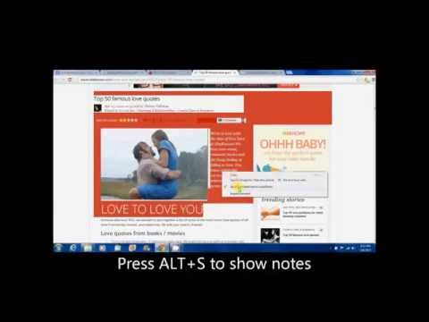 How to use Auto Notes extension for Google Chrome.