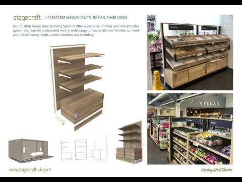 Custom Heavy Duty Retail Shelving by Stagecraft Display Ltd