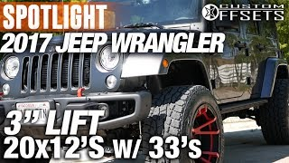 Spotlight - 2017 Jeep Wrangler, 3 BDS Lift, 20x12s And 33s
