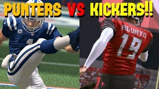PUNTERS VS KICKERS!! HOW ARE THEY SO GOOD?!?