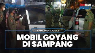 Detik-detik Mobil Goyang Digerebek Warga Sampang, ASN Wanita Bersuami Diduga Mesum dengan Pria Lain