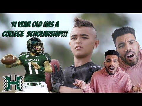 THIS 5TH GRADER ALREADY HAS A DIVISION 1 SCHOLARSHIP!!! Titan Lacaden Highlights [Reaction]