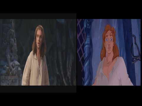 Beauty and the Beast - Beast Transformation 2017 vs 1991 Edited videos.