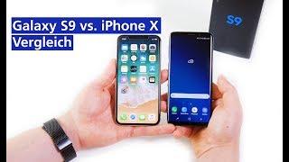 Samsung Galaxy S9 vs iPhone X im Vergleich (deutsch HD)