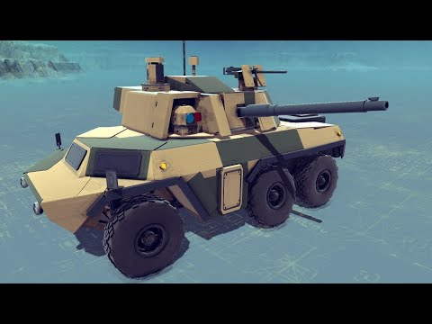 Showcasing my new armored vehicle and doing other cool stuff | Besiege