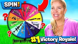 MOM SPIN-THE-WHEEL WEAPONS CHALLENGE in FORTNITE!