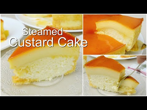 Steamed Custard Cake (No-Oven)