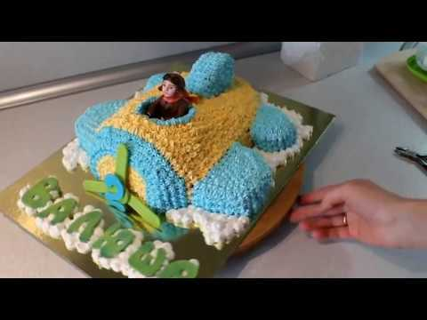 Мастер-класс сборки торта в виде самолёта