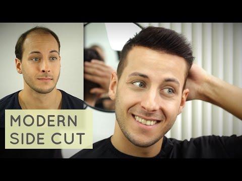 Mens short hairstyle Inspiration | Modern Sidepart Haircut mit Haarteil - Robert Lewandowski