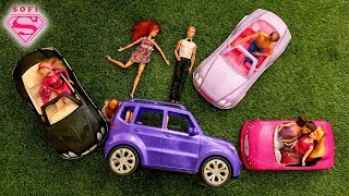 All my Barbie s cars!! КУЧА МАШИН ДЛЯ БАРБИ!!