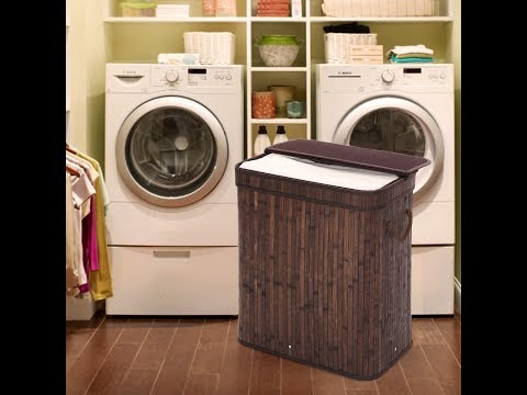 SONGMICS Bamboo Laundry Basket