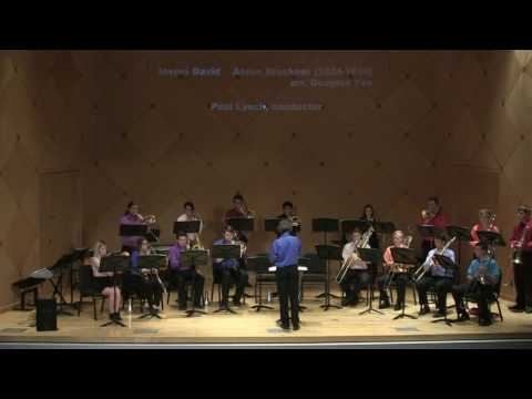 Myself conducting ASU Trombone Ensemble in Anton Bruckner's Inveni David arranged by Douglas Yeo.