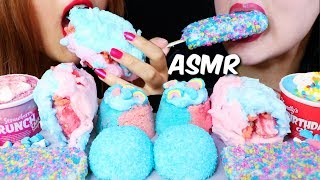 ASMR COTTON CANDY ICE CREAM BURRITO, SNOBALLS, CAKES, SUNDAE) 리얼사운드 먹방 | Kim&Liz ASMR