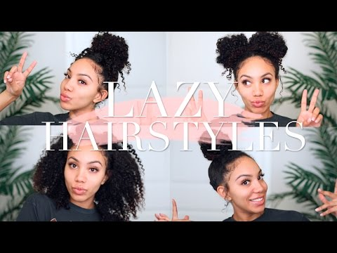 , title : 'Lazy Hairstyles for CURLY HAIR | Quick, Easy, On-The-Go'