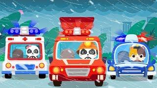 台風がきた★スーパーレスキュー隊出動 | ごっこ遊び | のりものの歌 | はたらく車 | 赤ちゃんが喜ぶ歌 | 子供の歌 | 童謡 | アニメ | 動画 | ベビーバス| BabyBus