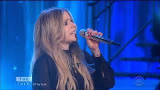 "Avril Lavigne performing ""Head Above Water"" live on The Talk CBS"
