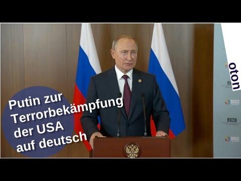 Putin zur US-Terrorbekämpfung auf deutsch [Video]