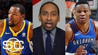 Stephen A. Smith predicts winner of Warriors vs. Thunder | SportsCenter | ESPN