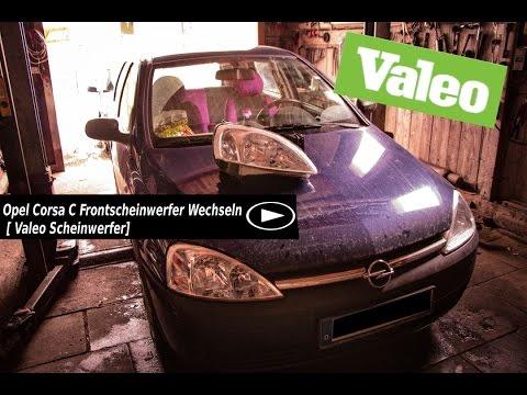 Opel Corsa C Frontscheinwerfer Wechseln [Valeo Scheinwerfer]