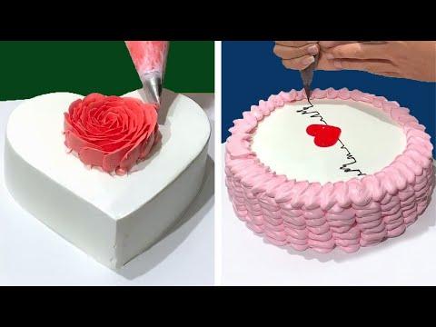 Tutorial incrvel de decorao de bolo de corao para namorados