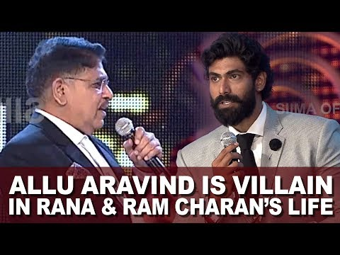 Actor Rana Daggubati Calls Allu Aravind  The Real Villain At SIIMA Awards
