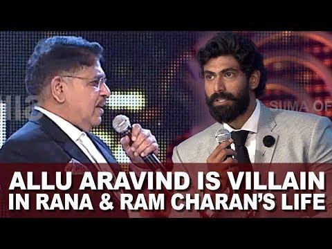 Actor Rana Daggubati Calls Allu Aravind  The Real Villain At SIIMA Awards