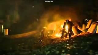 Бедный беркут! Стрельба из катапульты. / Fire from catapult Kiev 19.01.2014