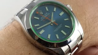 Pre-Owned Rolex Milgauss 116400GV Z-Blue Luxury Watch Review