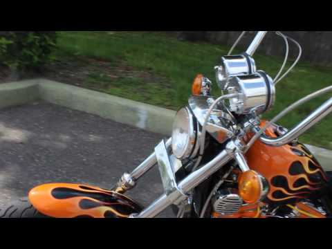 1991 HARLEY DAVIDSON XL883 CUSTOM CHOPPER WALK AROUND REVIEW FOR SALE ON EBAY NO RESERVE