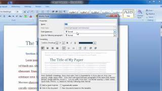 Using styles in Word 2007