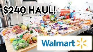$240 WalMart Haul and Meal Plan 🛒 May 24 2019 🤩 Working Mom Grocery Haul