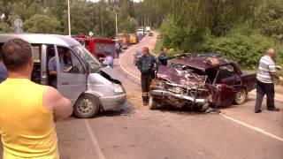 Страшная авария ВАЗ 2107, на трассе Калуга-Кондрово-Медынь, на улице Стефаново-2. 02.06.2014.